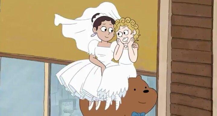 Cartoon brunette lesbians
