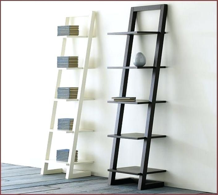 Leaning Bookcase Ikea Leaning Bookshelf Ladder Shelf Valiant Within Ladder Shelf Ikea Ladder Ladder Shelving