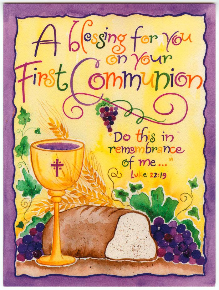 A Blessing for Your First Communion  sc 1 st  Pinterest & A Blessing for Your First Communion | BIBLE QUOTES | Pinterest ...
