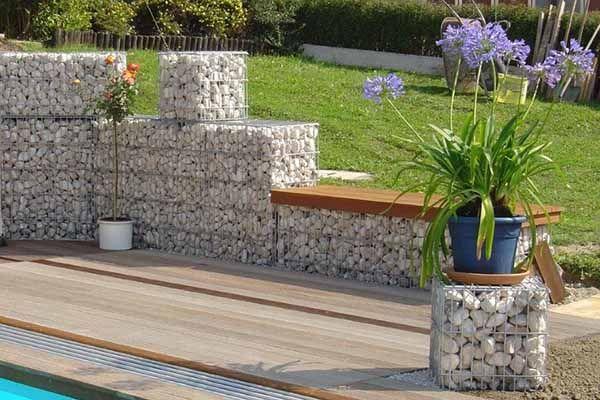 Gabionen als Gestaltungselement Garten Sichtschutz und Gestaltung