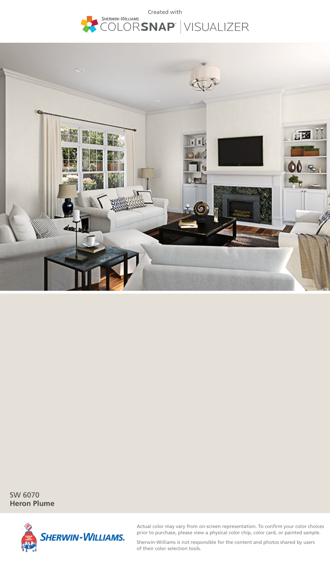 Sherwin williams popular greys - I Found This Color With Colorsnap Visualizer For Iphone By Sherwin Williams Heron