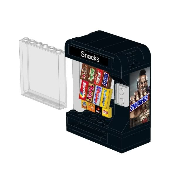 Snack Vending Machine instructions and stickers for LEGO™ | Vending ...