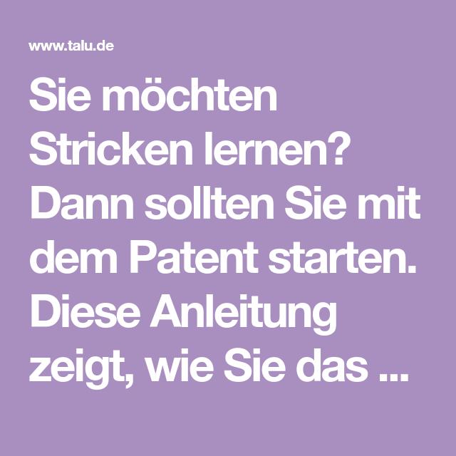 Photo of Patentmuster stricken – Anleitung für einfaches & falsches Patent – Talu.de