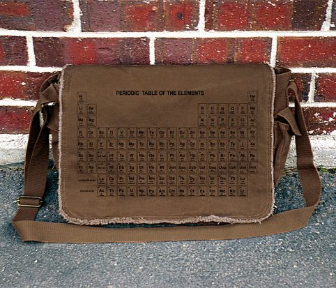 I M Not So Nerdy That Have The Periodic Table Memorized But Am Love This Bag Messenger 40 00