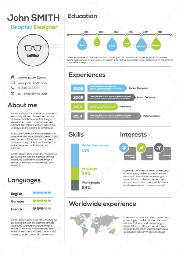 Cool Cv Infographic Template Free Idea | Infographic ... |Cool Infographic Resume Template