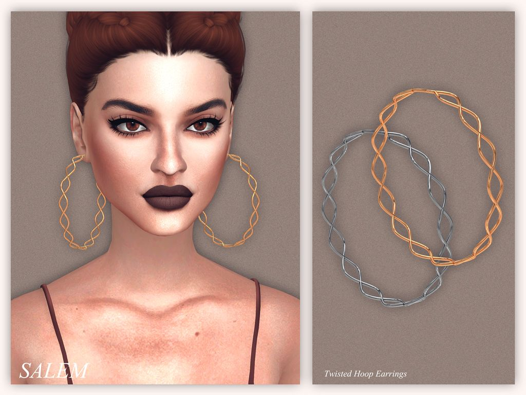 206 best images about sims 3 on pinterest dots sims 4 and warm - Twisted Hoop Earrings Sims 4 Downloads