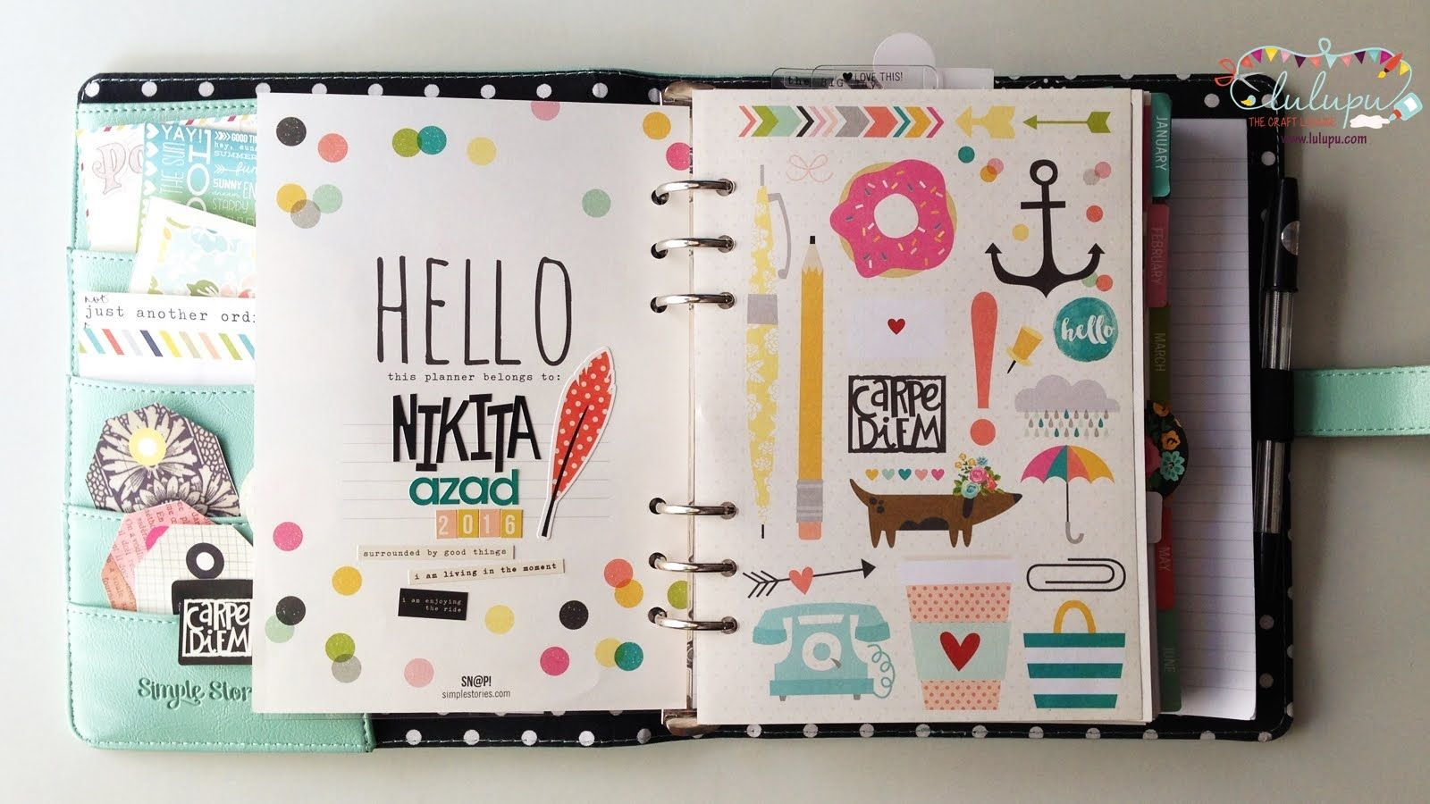 Simple Stories Carpe Diem Planner showcase by Nikita Azad for Lulupu.com