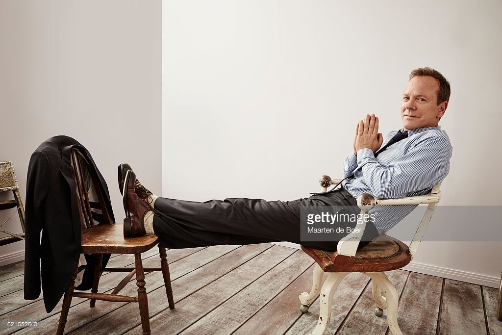 Kiefer Sutherland from Disney ABC Television Group's 'Designated Survivor' poses for a portrait at the 2016 Summer TCA Getty Images Portrait Studio at the Beverly Hilton Hotel on August 4th, 2016 in Beverly Hills, California