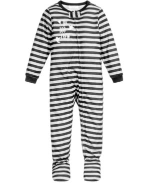 Family Pajamas Boo Crew Footed Pajamas Baby Boys Girls 12 Months 3t Created For Macy S Gray Baby Boy Or Girl Toddler Boys Boy Or Girl