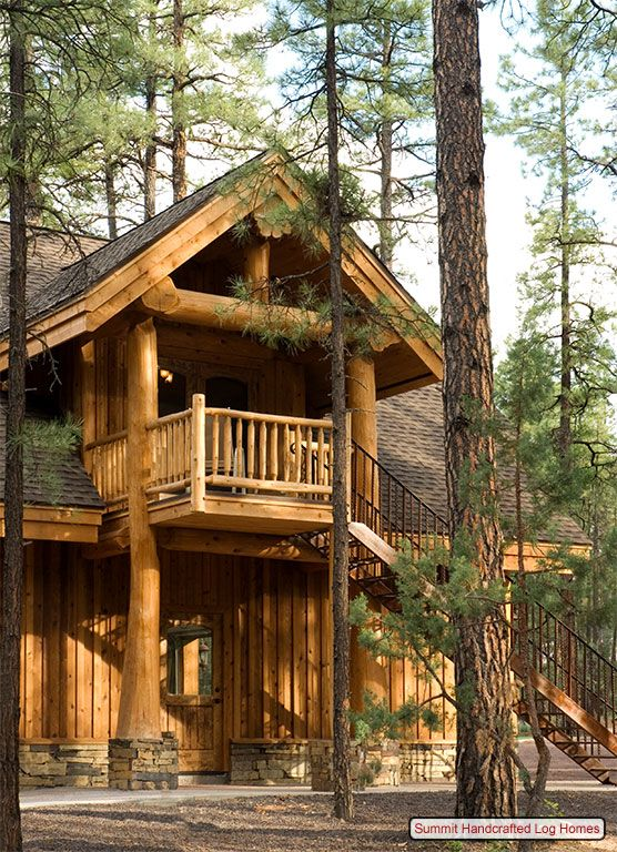 Featured Handcrafted Log Homes Summit Log And Timber Homes Log Homes Timber House Treehouse Cabins
