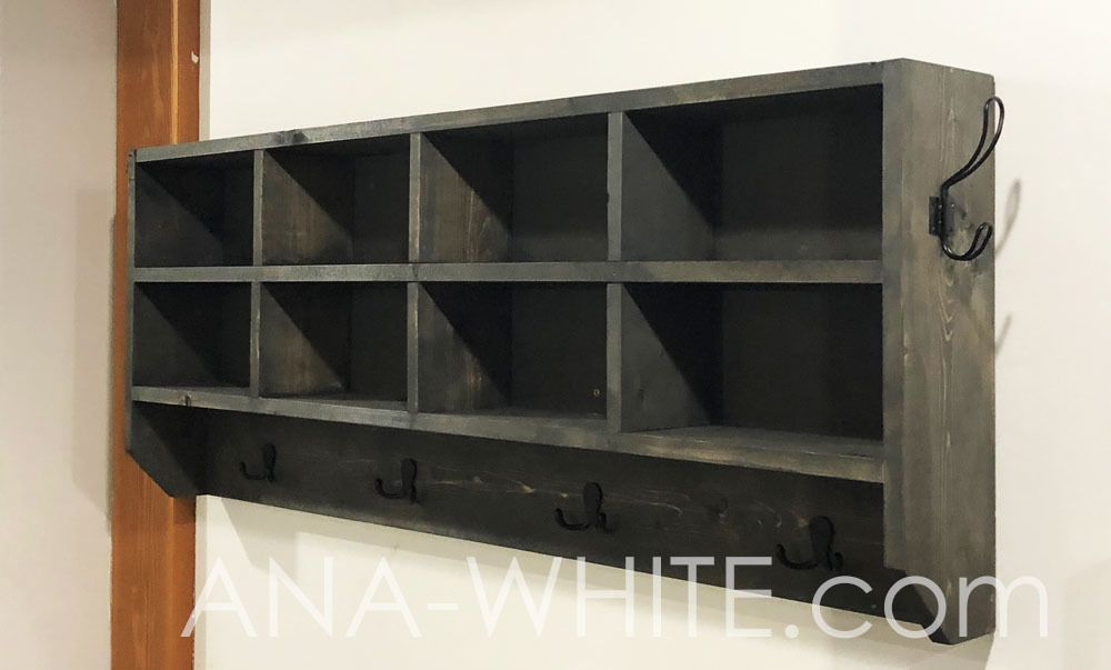 Astounding Cubby Organizer With Hooks Ana White Best Made Plans In Dailytribune Chair Design For Home Dailytribuneorg