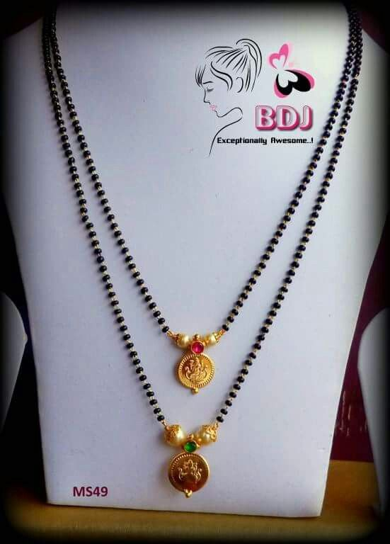 6326a4bfd6488 blackbeads paired with kasu .., | Blackbeads/ mangalsutra | Jewelry ...