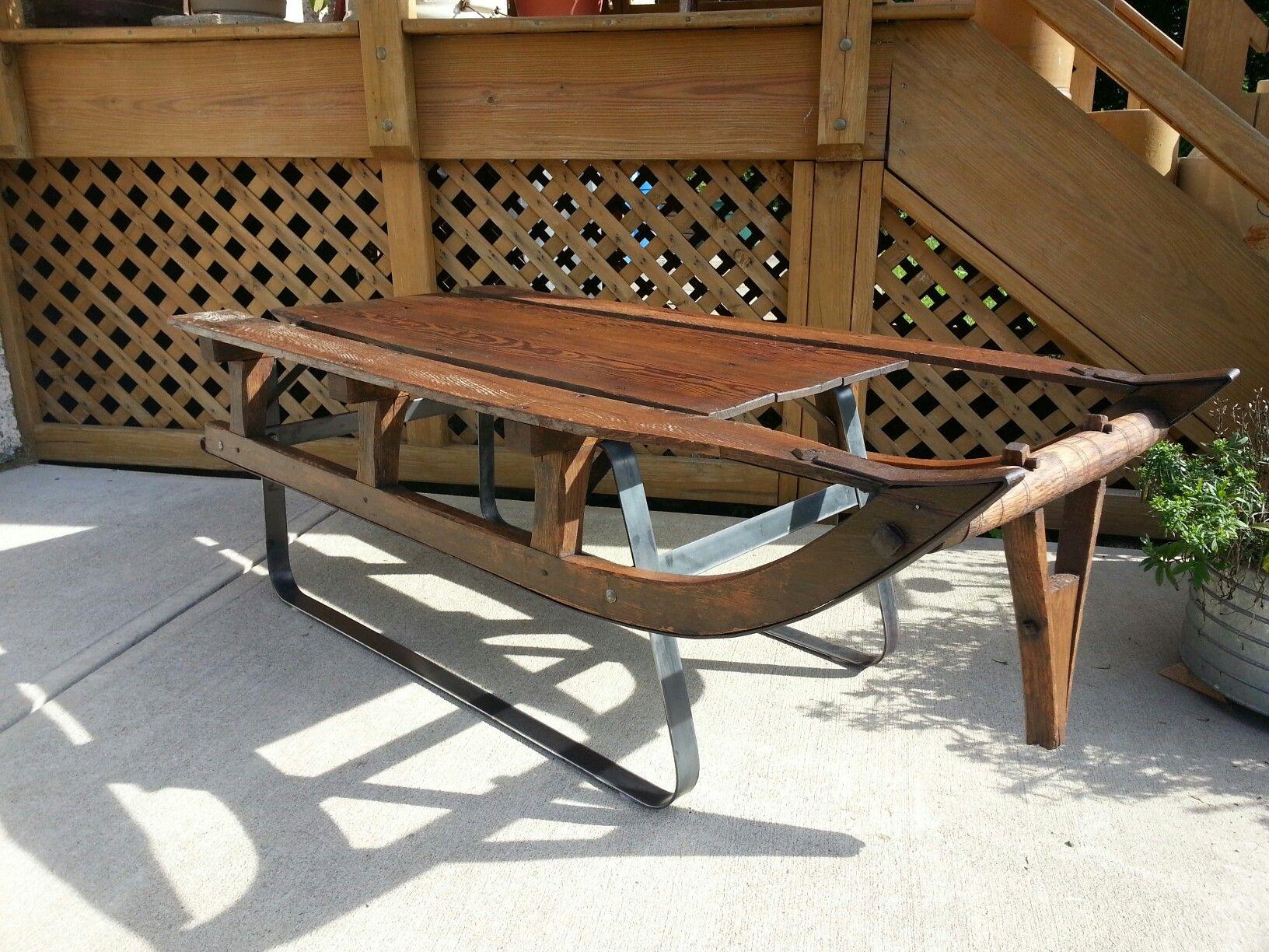 Vintage Pony Sled Coffee Table Signature Refind Salvage Signature Refind Salvage Pinterest