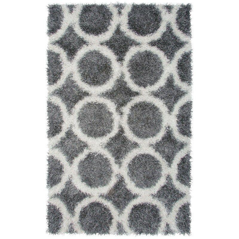 8 X10 Gray Circle Shag Rug 671424220 Shop Rugs By Pattern Home Burlington Coat Factory Retro Rugs Area Rugs Rugs