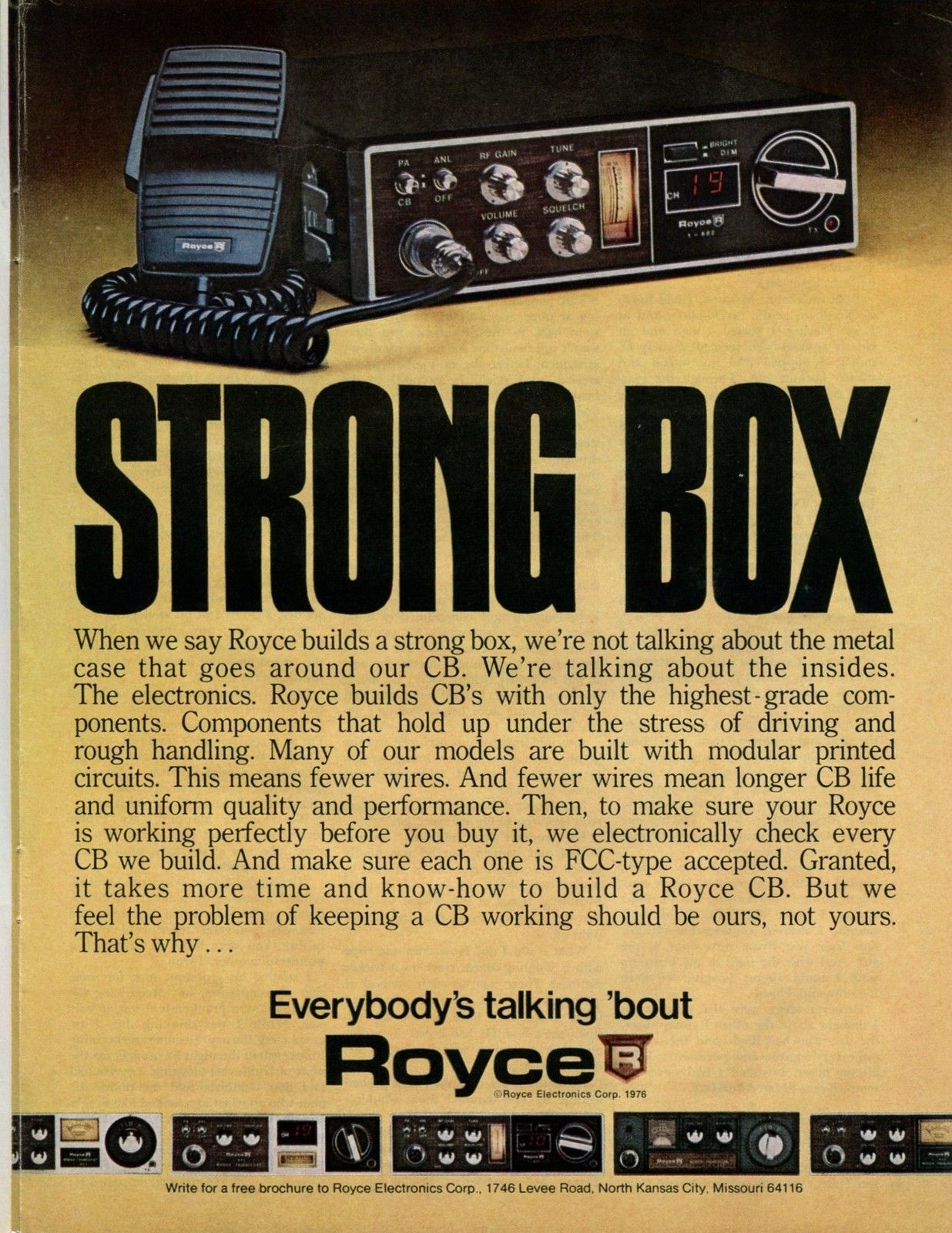 1976 royce electronics cb radio color retro vintage