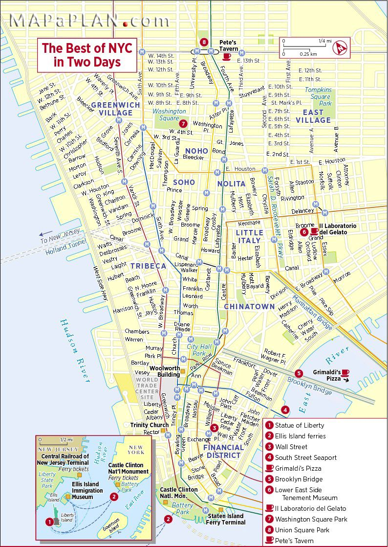 new york city sights new york city map nyc tourist