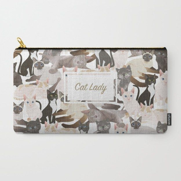 This oh-so-subtle pouch.   24 Things Every Crazy Cat Lady Needs In Her Life