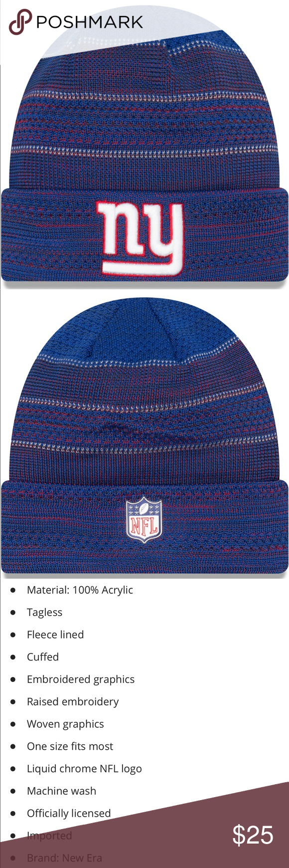 4959d695f27 NFL NY Giants New Era knit hat NY Giants New Era sideline official sport  knot hat See above slide for details and description Brand new with tags  New Era ...