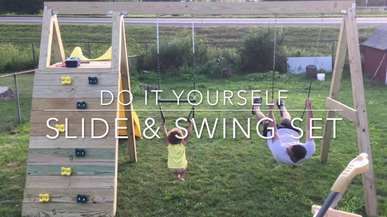 Backyard with kids in mind diy swing sets diy swing