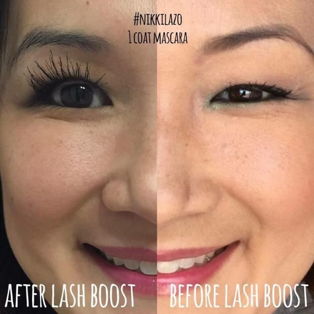 6940fe5c2ed Consultant Nikki Lazzo's #LashBoost results! 1 coat of mascara in each pic!  All hers! It takes less than 30 seconds each night to apply!