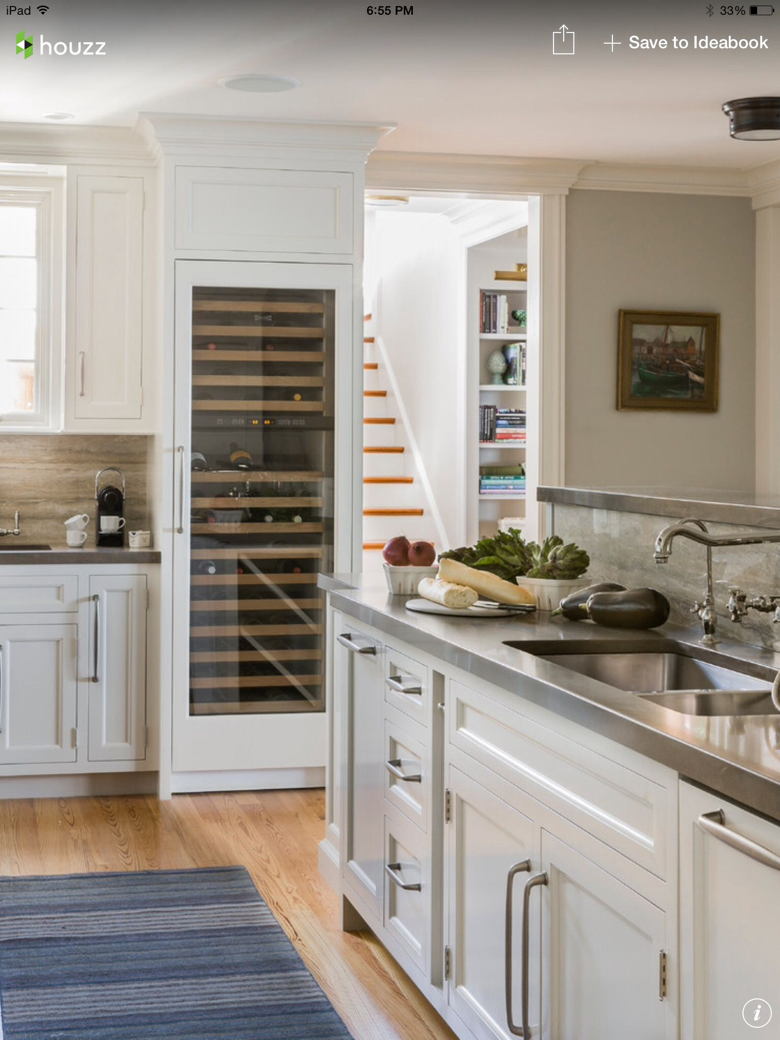 Love The Full Size Wine Fridge Kitchen Design Kitchen Styling Built In Refrigerators