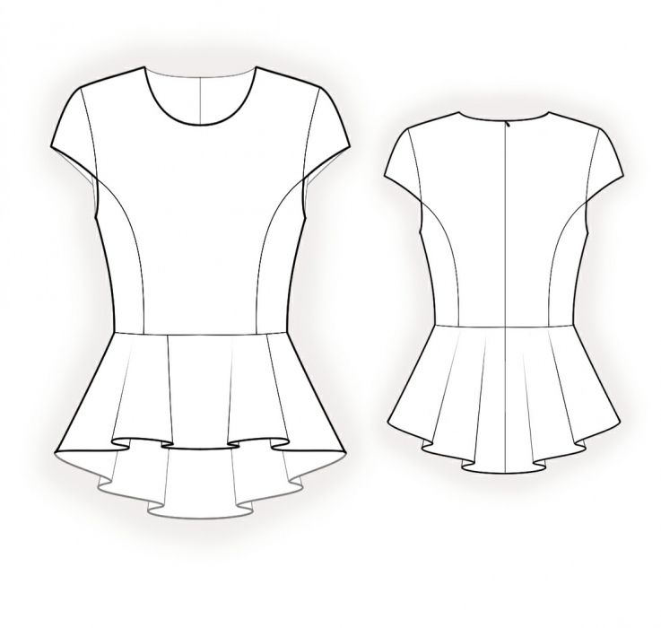 Blouse With Peplum - Sewing Pattern #4177 | sewing ideas | Pinterest ...