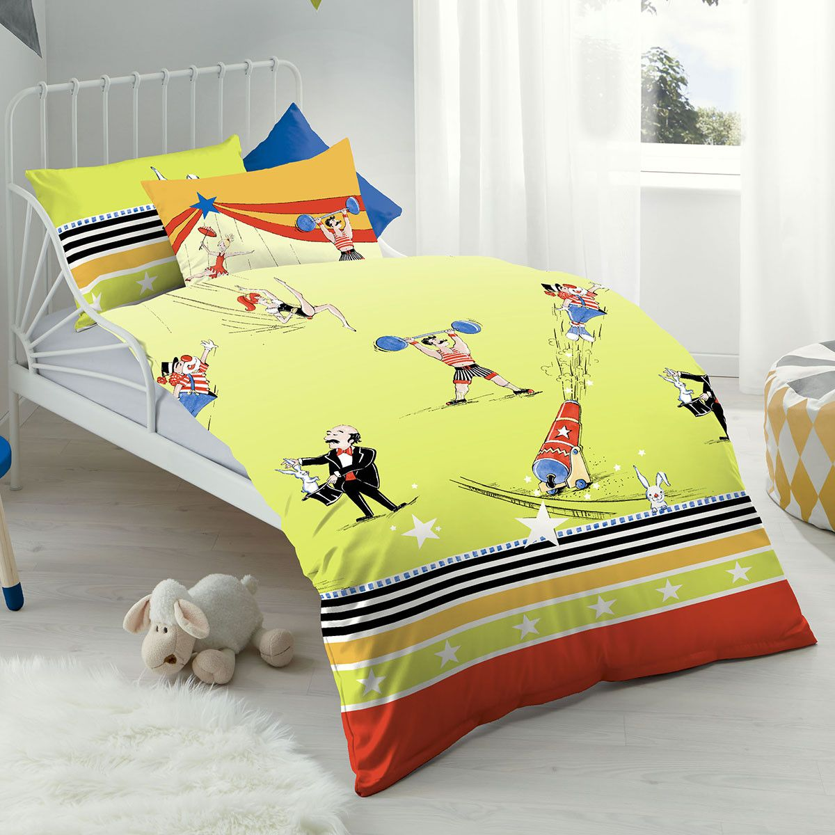 Biber Bettwäsche Kinderbett Kaeppel Biber Kinderbettwäsche Zirkus Kids Bedding Sets