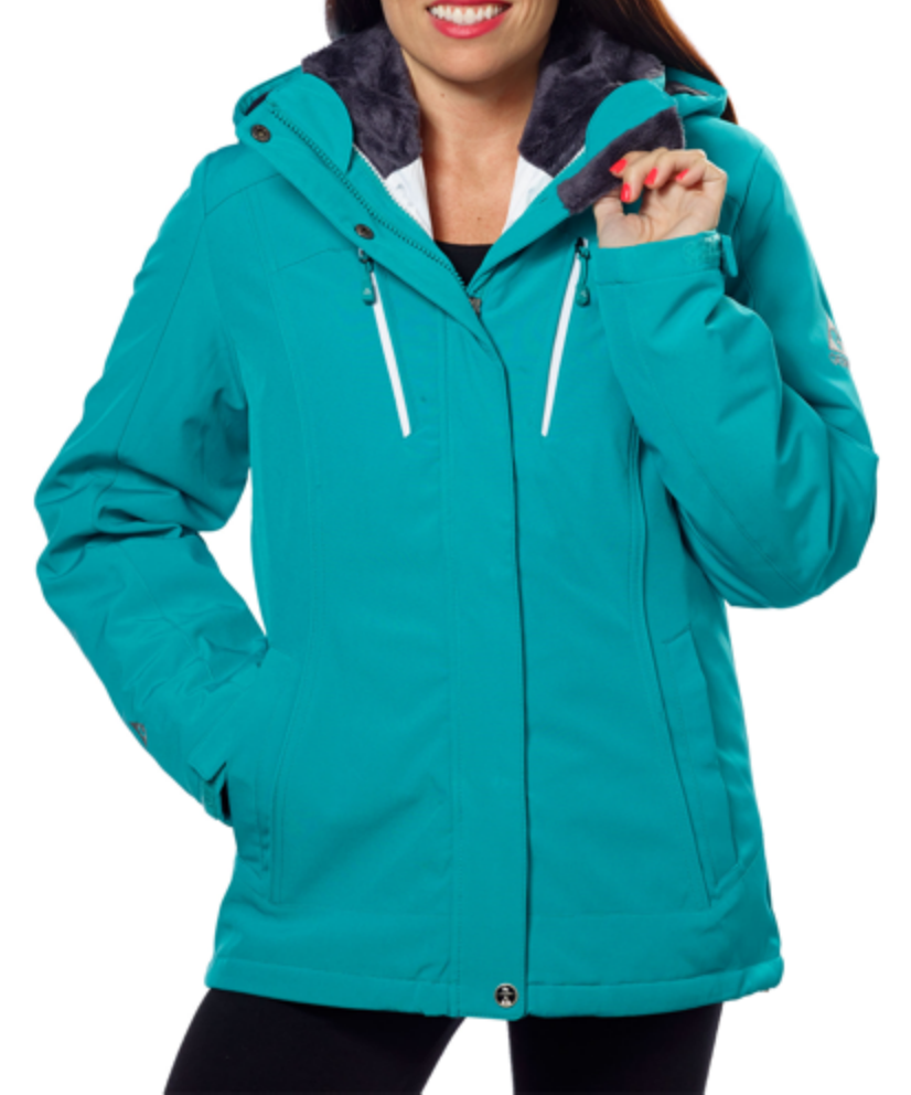 7a8f7e37c4b Gerry Ladies' 3-in-1 Systems Jacket - Teal | Costco Fashion | Winter ...