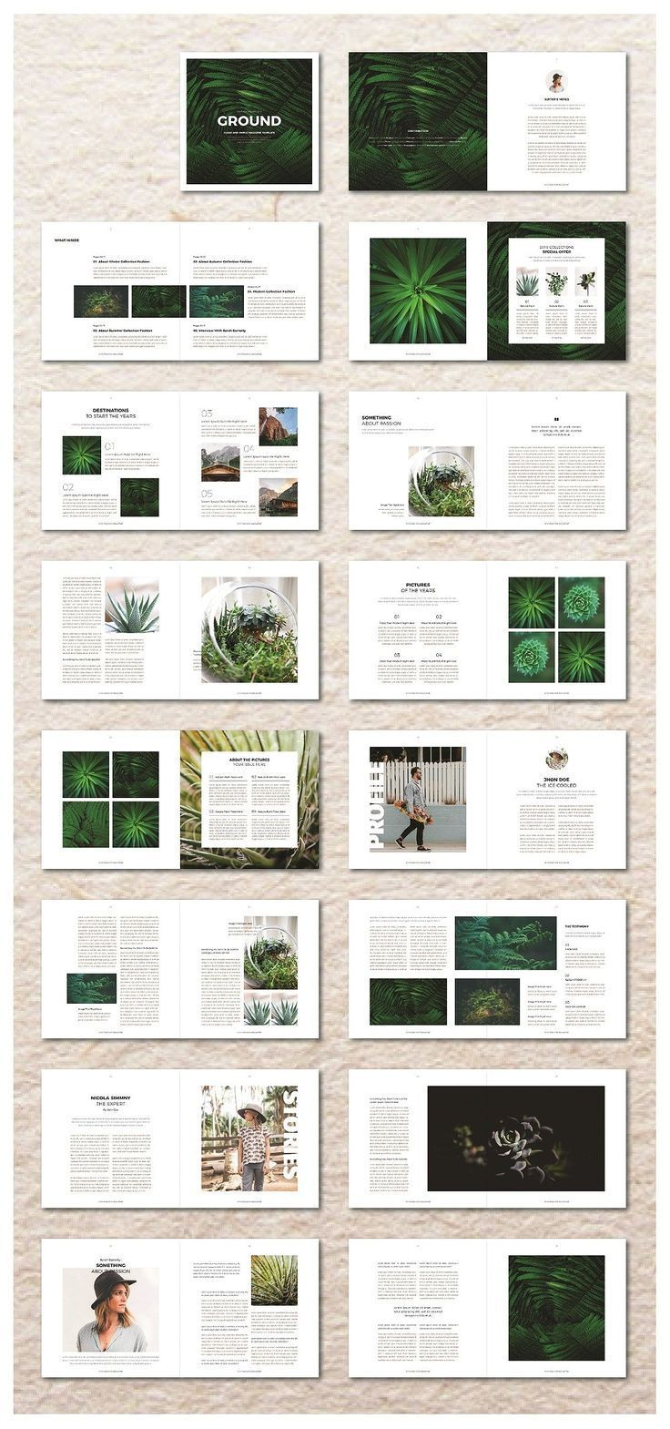 Square Magazine Template by ZoroGraph on Creative Market - Steph Aanonsen #editoriallayout