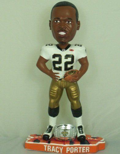 310da385a72 Tracy Porter New Orleans Saints Super Bowl XLIV Champions Bobblehead ...