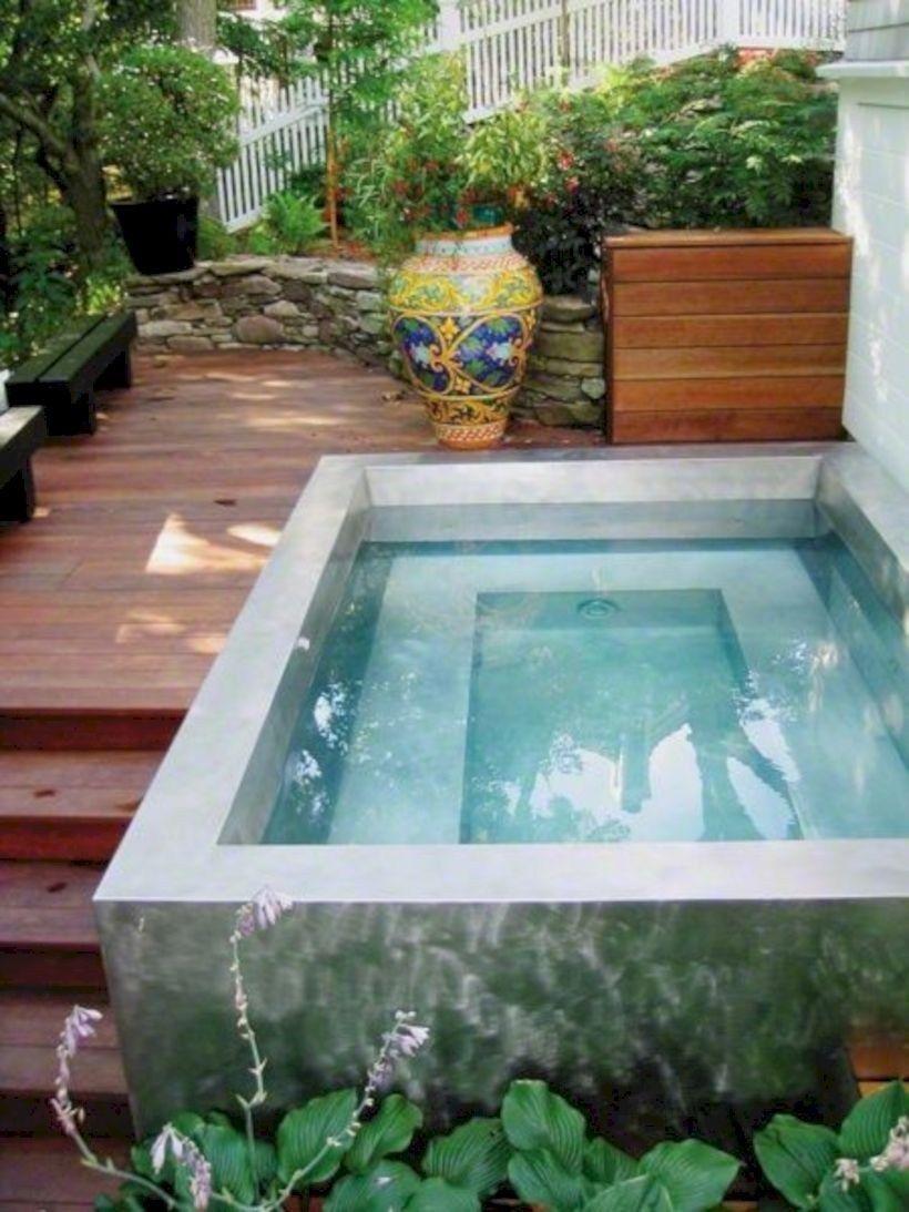 16 Decorating Tiny Pool On Your Backyard Garden Godiygo Com Small Backyard Pools Backyard Backyard Pool