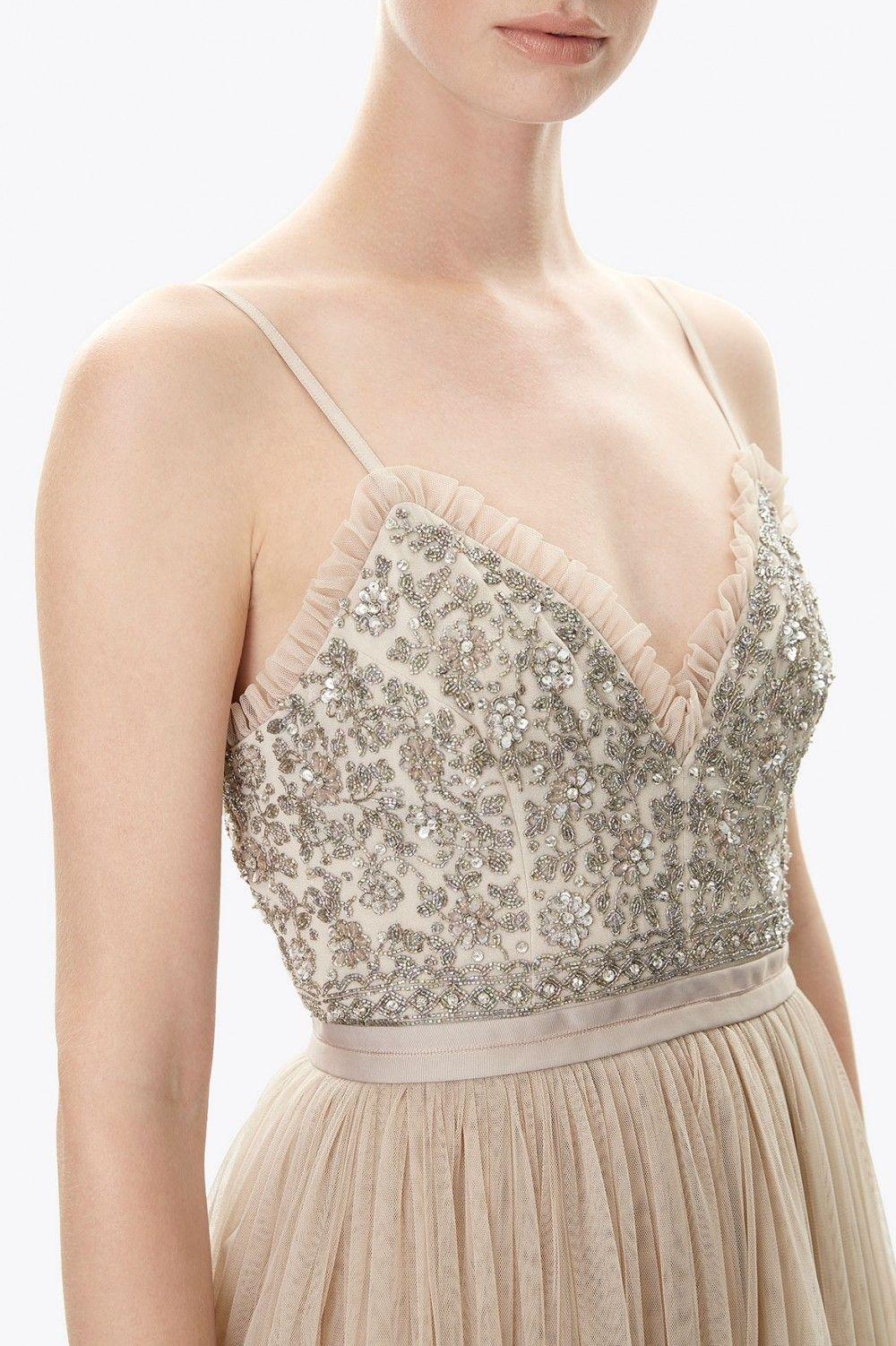 Pretty in beige | Andromeda Midi Dress | Needle & Thread ...