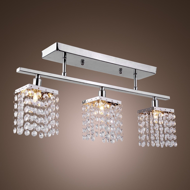 LightInTheBox 3 Light Hanging Crystal Linear Chandelier