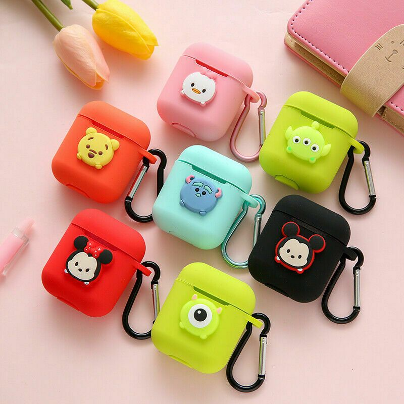 Cute Disney Cartoon Earphone Silicone Case Cover For Apple Airpods Charging Case Earbuds Case Airpod Case Girly Phone Cases