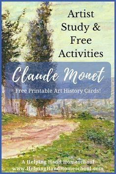 Photo of Artist Study and Free Activities: Claude Monet (+ Free Art Study   Cards!)