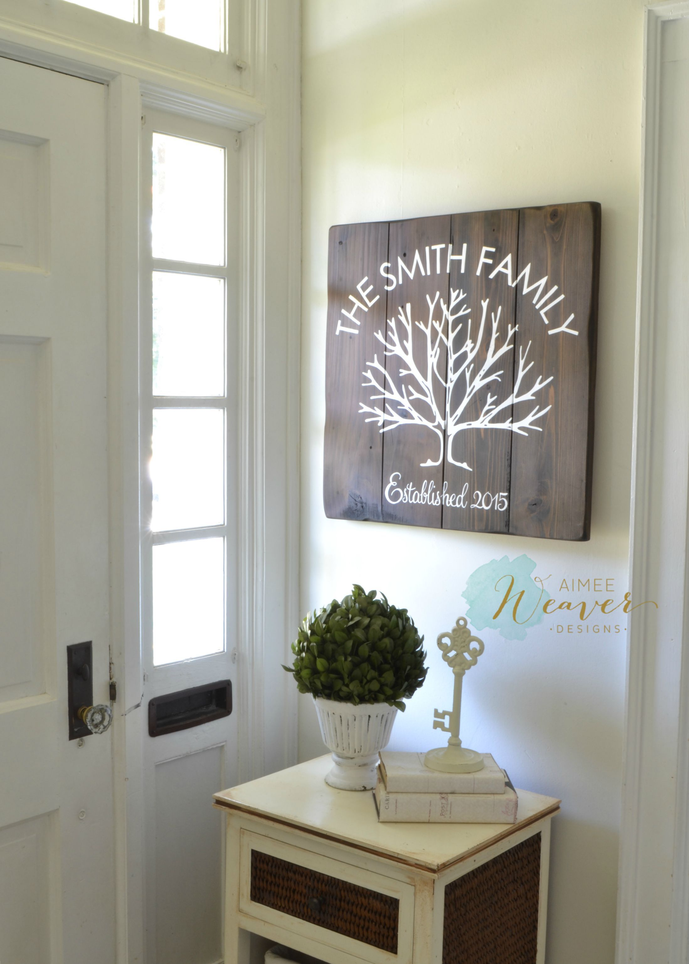 Family tree sign by aimee weaver designs wood projects pinterest