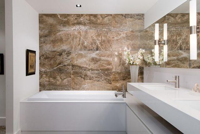 Naturstein Badezimmer ~ Ideen bad keramikfliesen extrem glatte glasur oberfläche