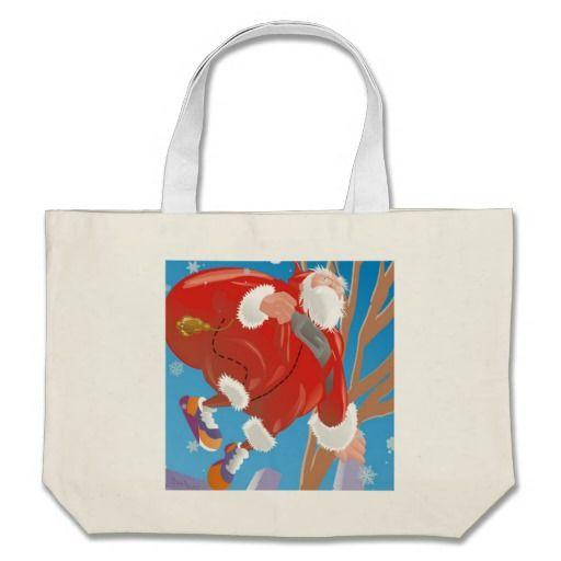 Santa Claus/ Papai Noel Bolsa Para Compras