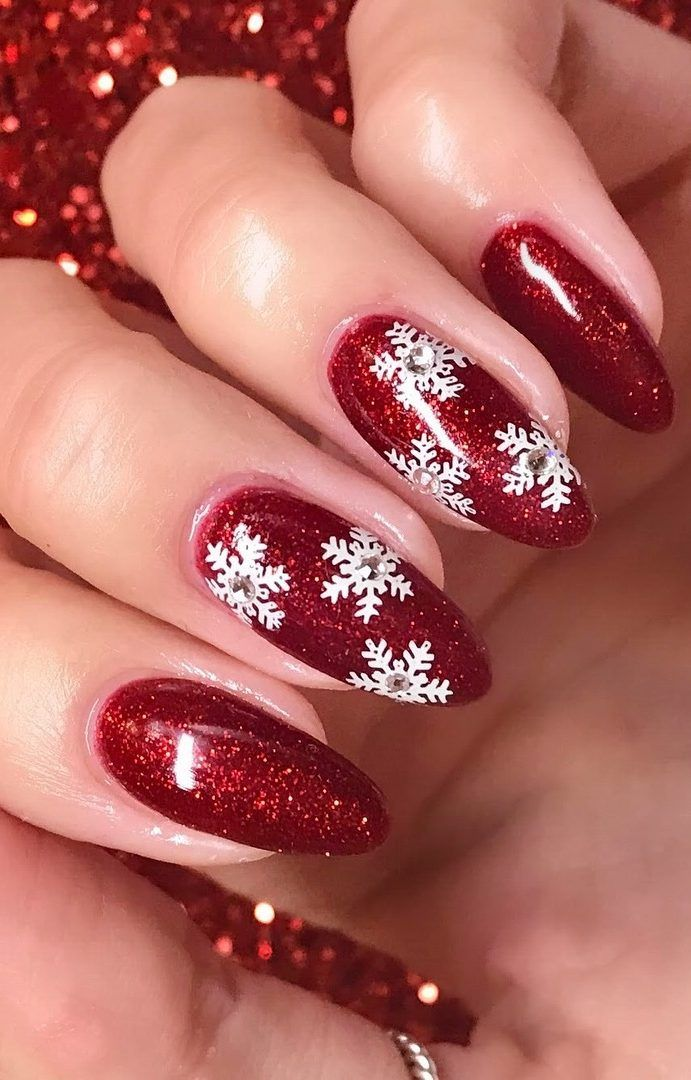 25 Bright And Awesome Christmas Nails Art Design And Polish Ideas For 2019 Page 20 Of 25 Ladiesways Com Women Hairstyles Blog Christmas Nail Designs Christmas Nail Art Designs Holiday Nail Art