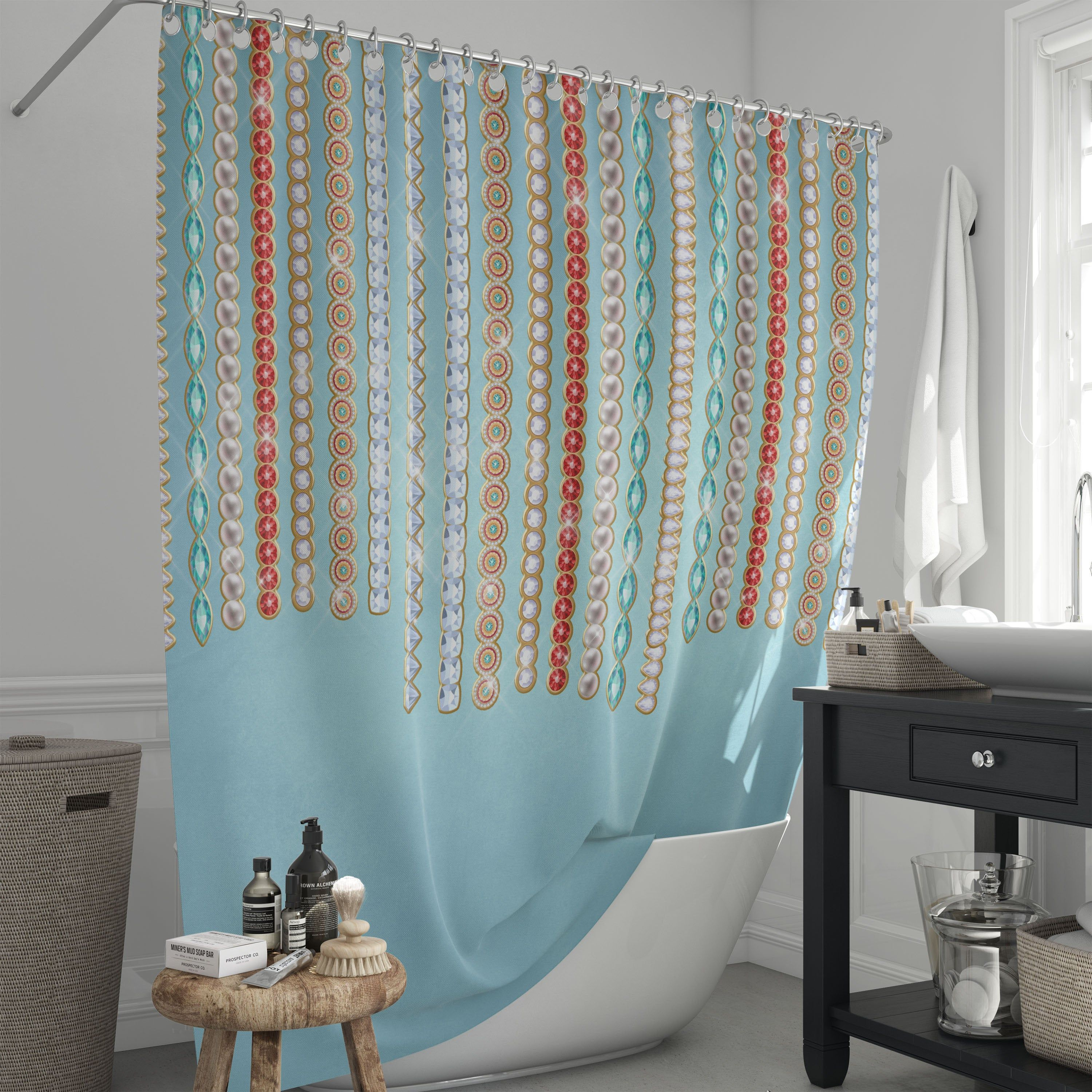 Boho Jewels Turquoise Window Curtains In 2020 With Images