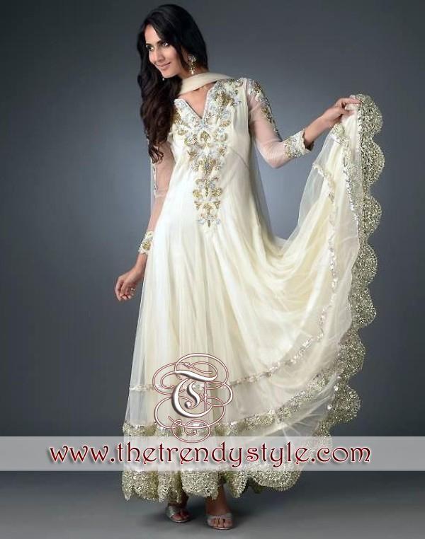She fashions wedding dresses