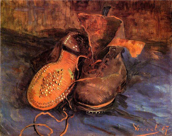 Paire De GoghUne Reproduction ChaussuresTableau À Peint Van MGzpSVqU