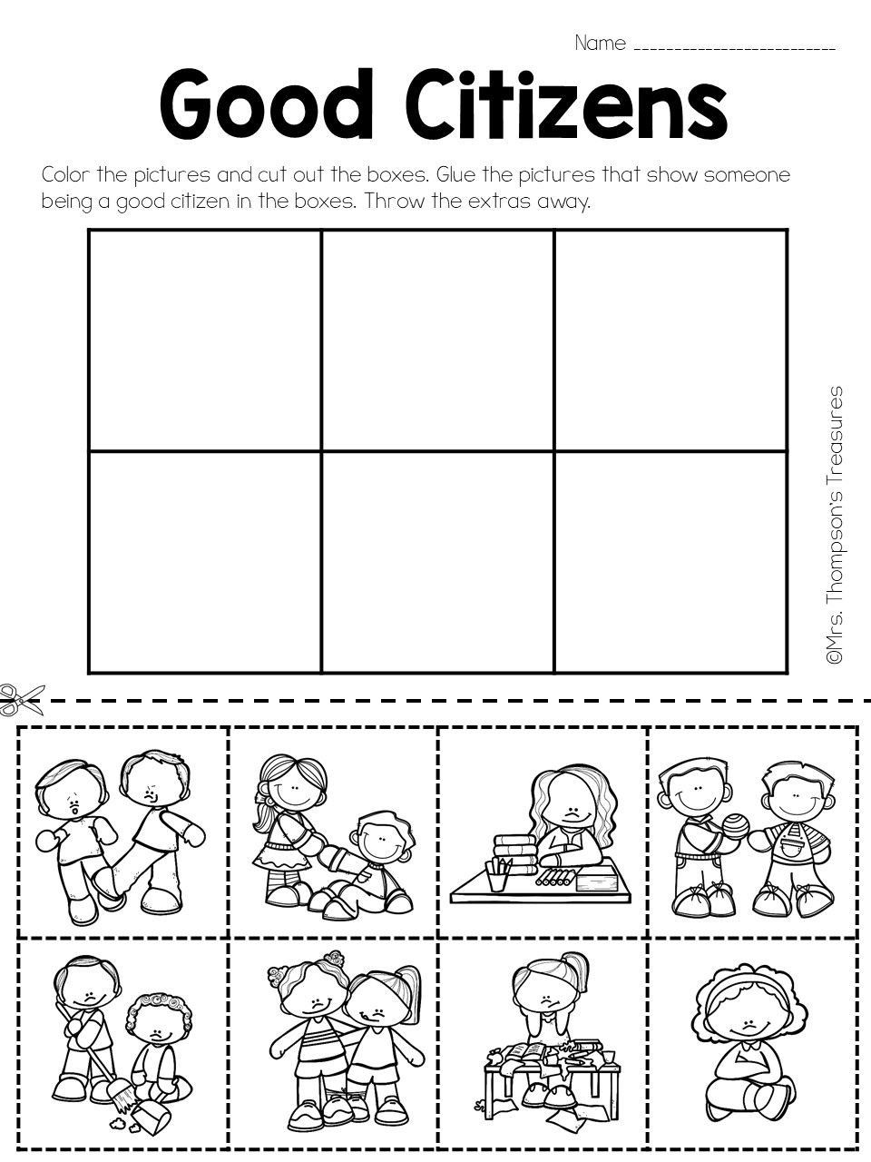 Social Studies Worksheets for Kindergarten in 2020