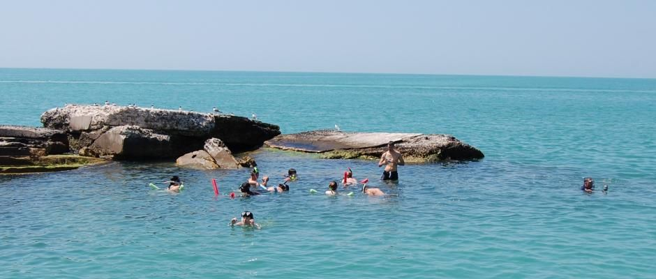 Snorkeing At Egmont Key With Island Boat Adventures St Petersburg Florida