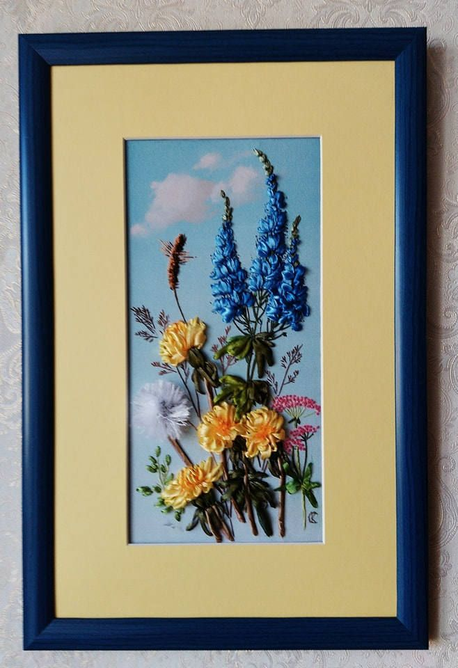 Embroidery art Wildflowers Floral embroidery patterns Ribbon ...