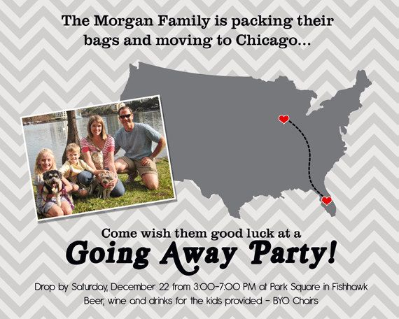 Going Away Party Invitation Moving Farewell Party Invitation – Farewell Party Invitation Template
