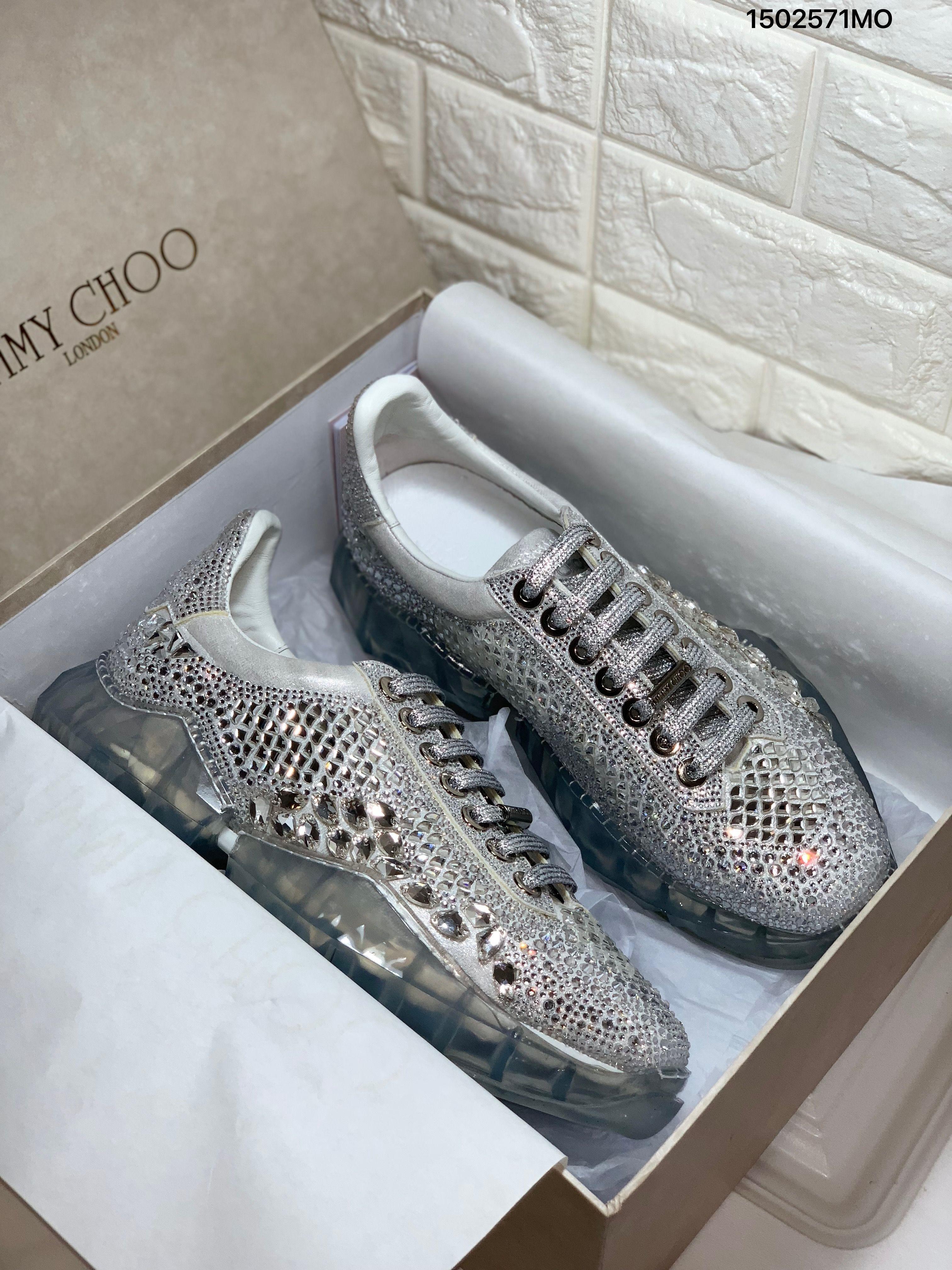 Jimmy choo crystal stones sneakers