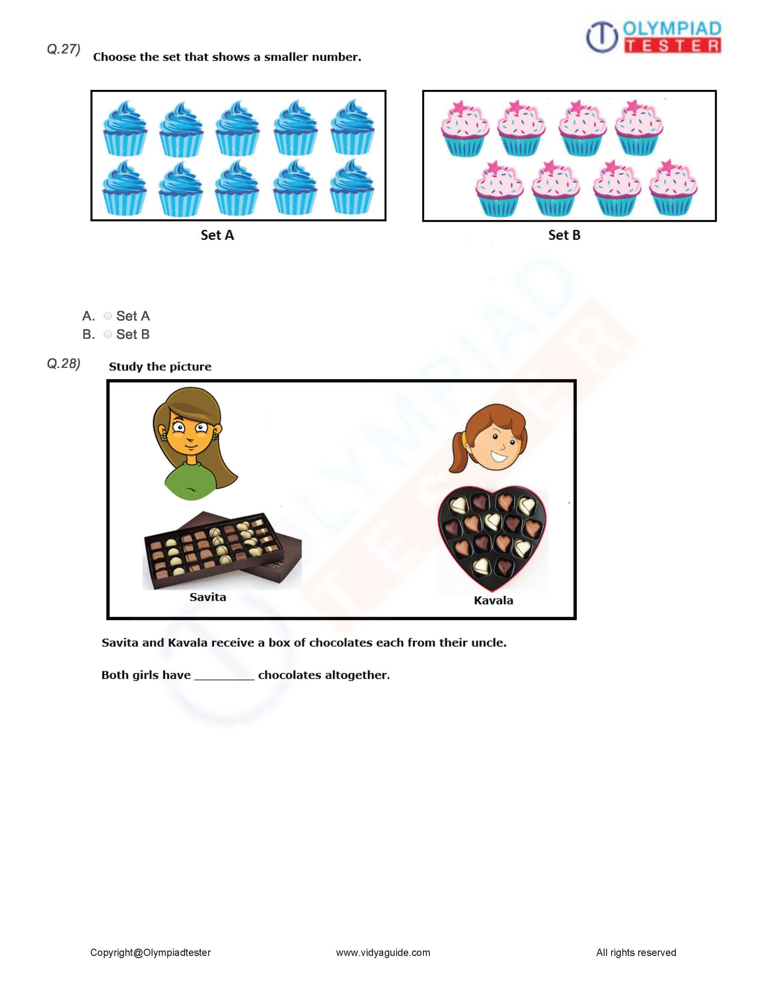 Download These Printable Grade 1 Maths Worksheets Or