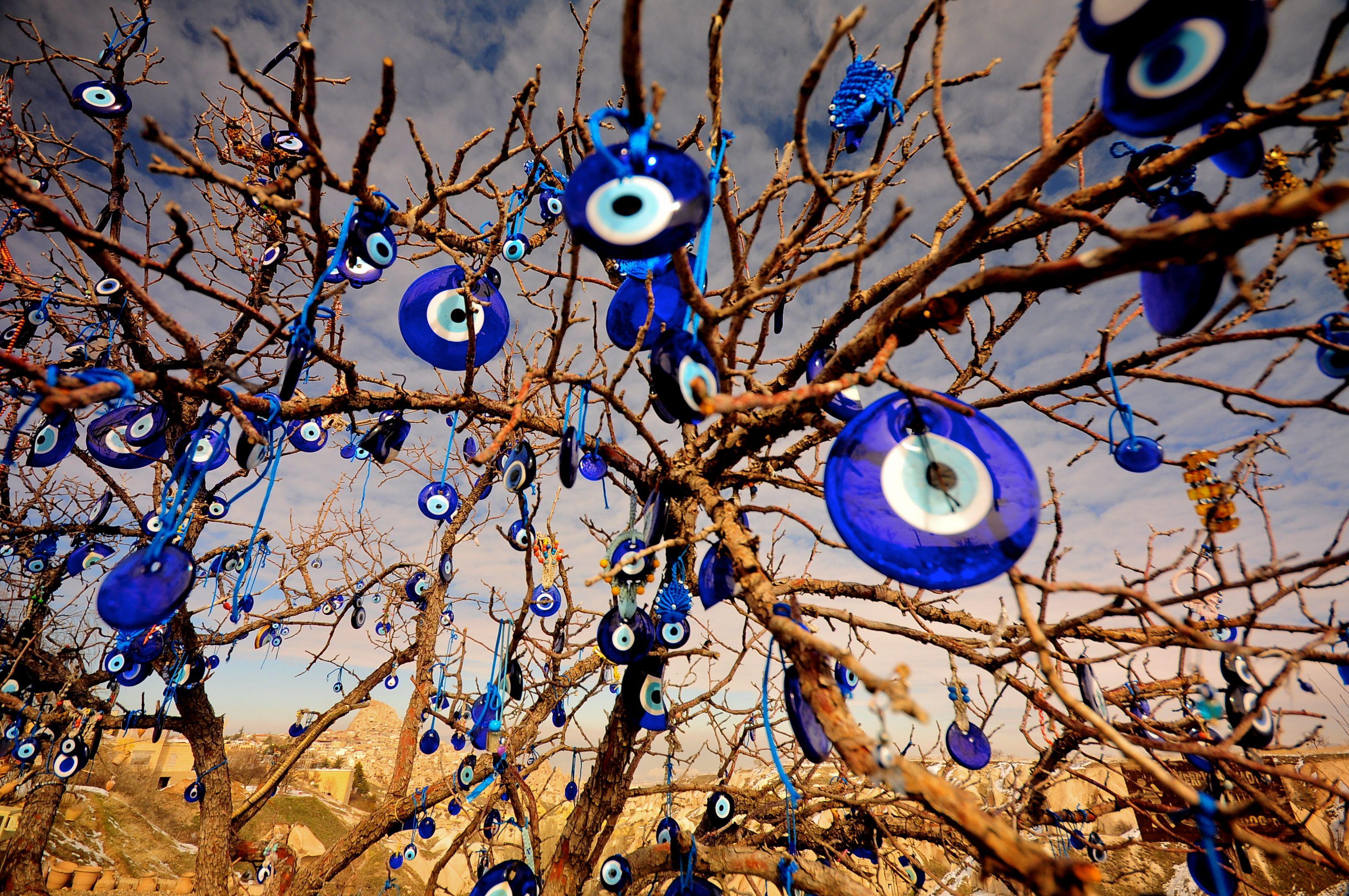 the evil eye treecappadociaturkey photo by memerve
