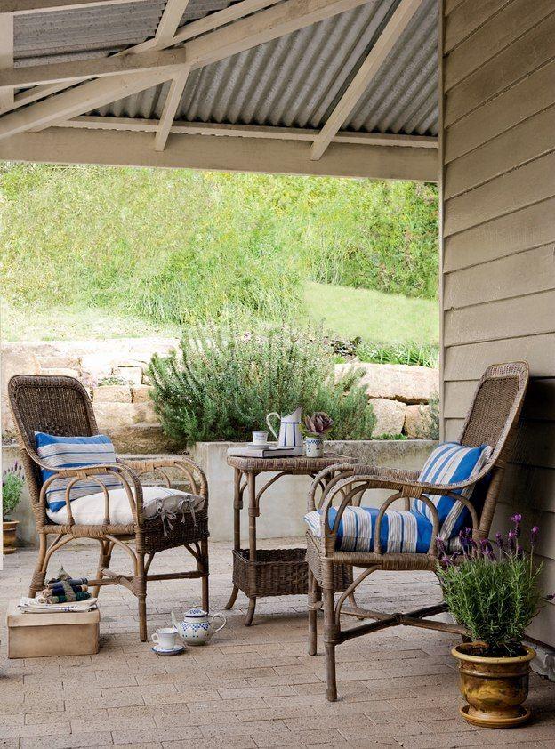 Corrugated metal veranda of Australian mill house